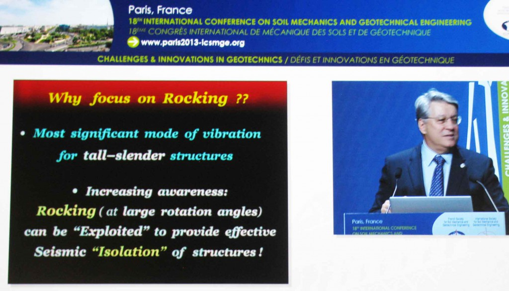 "George Gazetas presentation ""Soil-Foundation-Structure systems beyond conventional seismic failure thresholds"""