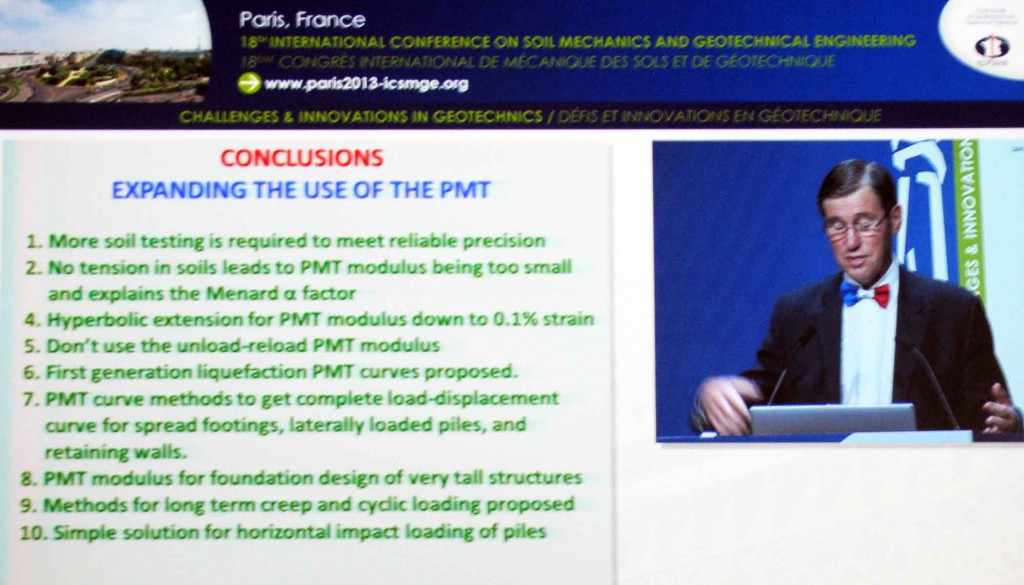 "J. L. Briaud presentation ""The pressuremeter test: Expanding its use"""