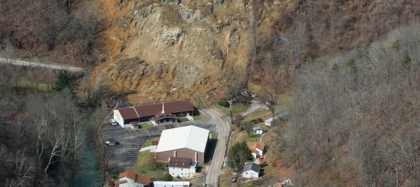 Yeager airport landslide
